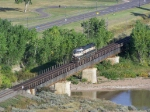 BNSF 9605 Crosses a Small River