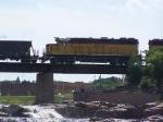 DAIR 2510 Creeps Over the BNSF/DAIR Bridge Crossing the Big Sioux River