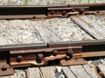 Joint of two different sizes of rail