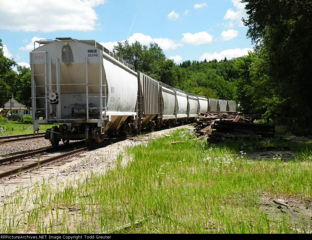 Trackside looking East