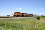 BNSF 5292 heads for rising flood waters ahead