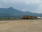 BNSF Trains awaiting new crews at Trinidad Co