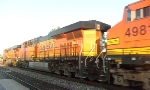 3 BNSF engines coming by