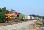 KCS 4693 single handedly pulling 87 empty grain cars