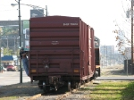 With one boxcar from Colonial Brick in front of it, 1206 shoves west along Cermak
