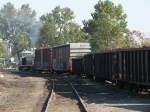 1206 pulls its train back off the spur to Kozy's