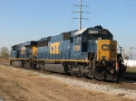CSX 8702 & 5459 sit on the Lakefront Line after bringing K311 in