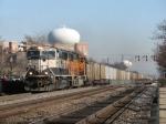 BNSF 9546 & 8886 roll coal empties westward