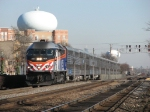 METX 401 races outbound on Main 1 with a holiday extra