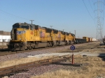 UP 4816 waits with two more SD70M's and North Platte bound general freight