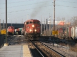 CN 2454 brings M336 south between the northbound M347 and the A446 which is getting a crew change