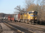 UP 4389 leads eastward with general freight