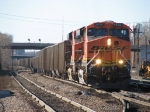BNSF 5858 pulls up for a crew change