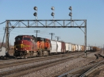 Also with a new crew aboard, BNSF 159 & 7700 start west again