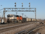BNSF 9415 & 6140 resume west with an empty Consumers Energy train