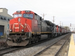 CN, IC and GTW units wait with a southbound potash train B782