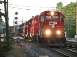CP 4525 leads its local out of the yard towards the controlled siding