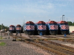 Six Metra trains spend the Fourth of July tied down