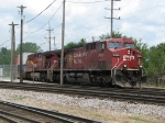 CP 9620 & 9834 roll through B-17 with train 198