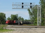 CP 4611 & SOO 4429 roll through the realigned junction just north of Norpaul with G37