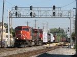 CN 5799 & 2303 pull down Main 1 with M342