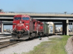 CP 9640 & 5813 pull out of the yard with 240