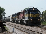 ICE 6436 rolls into B-17 with unit ethanol train EAUCC