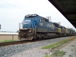 CSX 7489 leads 5 other locomotives and a southbound train 7/9/08