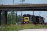 CSX 7627 is leading Q525 at Memphis Jct yard 7/10/08