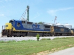 CSX 7627 is up front for Q525 at Memphis Jct. 7/10/08