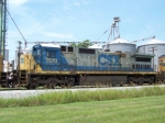 CSX 7570 is the 3rd unit on Q525 at Memphis Jct 7/10/08