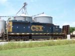 CSX 8331 (Former L&N 1256, SBD 8331 built 5/'71) is the 4th unit on Q525 at Memphis Jct. 7/10/08