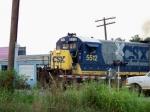 CSX 5512 crosses Emmitt Drive southbound 7/18/08