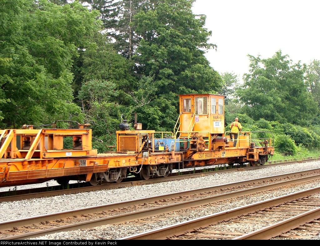 Rail train away