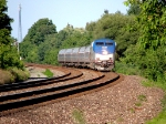 Amtrak P281 at Caswell Rd. S curve