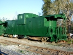 One of 2 Just painted Aberdeen Carolina & Western Cabooses