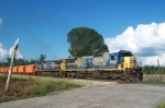 CSX W081 Ballast Train leaving West Point siding to repair tracks in New Orleans after Hurricane Faye the same day Hurricane Ike moved into Galveston