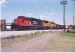 CN 6024 leading A745 on a hot day in 2003