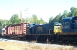 CSX 1226 on Lineville Sub train in LaGrange--unit was freshly overhauled and painted out of Waycross