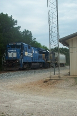 CSX 5964 holding dow switching assignments as the LaGrange Switcher Y101 in Summer '08