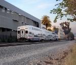 Metrolink train 335 highballing Claremont