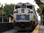 Metrolink engine #851 Highballing Claremont