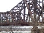Southern Pacific 6307 moving across the Harahan bridge,