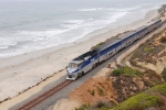 San Diego Surfliner, passing Del Mar Bluffs