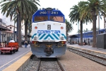 San Diego Coaster, Just arrived at the Santa Fe Depot