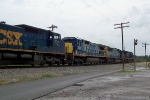 CSX 5439 is southbound with Q525 nearing the signal at 134.9 7/25/08