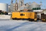 CNW 11216 in shoving platform service