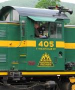 Engineer slows train