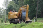 CSX hydro-axe like thing clearing brush on the HV between Hobson and Kanauga