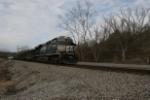 NS 7609 leads a 21 car 380 near Rutland